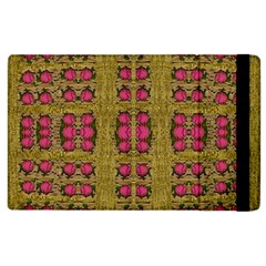 Bloom In Gold Shine And You Shall Be Strong Apple Ipad 3/4 Flip Case by pepitasart