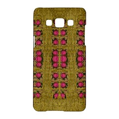 Bloom In Gold Shine And You Shall Be Strong Samsung Galaxy A5 Hardshell Case  by pepitasart
