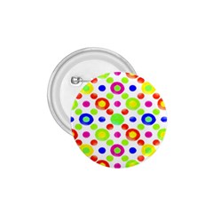 Multicolored Circles Motif Pattern 1 75  Buttons by dflcprints
