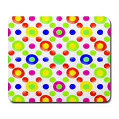 Multicolored Circles Motif Pattern Large Mousepads by dflcprints
