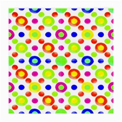 Multicolored Circles Motif Pattern Medium Glasses Cloth (2 Side) by dflcprints