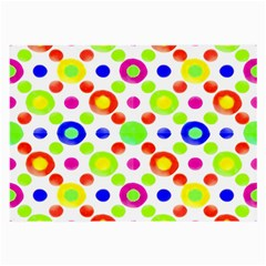 Multicolored Circles Motif Pattern Large Glasses Cloth (2 Side) by dflcprints