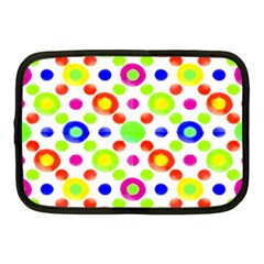 Multicolored Circles Motif Pattern Netbook Case (medium)  by dflcprints