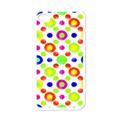 Multicolored Circles Motif Pattern Apple Iphone 4 Case (white)