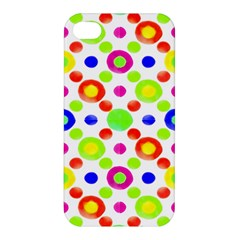 Multicolored Circles Motif Pattern Apple Iphone 4/4s Hardshell Case by dflcprints