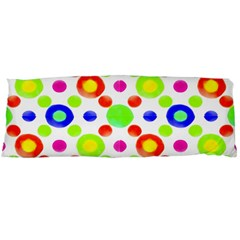 Multicolored Circles Motif Pattern Body Pillow Case Dakimakura (two Sides) by dflcprints