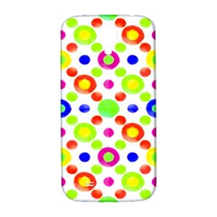 Multicolored Circles Motif Pattern Samsung Galaxy S4 I9500/i9505  Hardshell Back Case by dflcprints