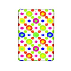Multicolored Circles Motif Pattern Ipad Mini 2 Hardshell Cases by dflcprints