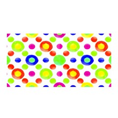 Multicolored Circles Motif Pattern Satin Wrap by dflcprints