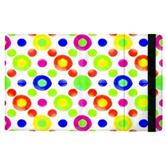 Multicolored Circles Motif Pattern Apple Ipad Pro 9 7   Flip Case by dflcprints