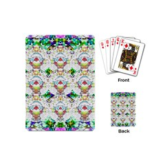 Nine Little Cartoon Dogs In The Green Grass Playing Cards (mini)  by pepitasart