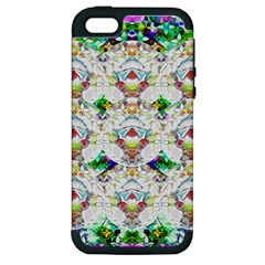 Nine Little Cartoon Dogs In The Green Grass Apple Iphone 5 Hardshell Case (pc+silicone) by pepitasart
