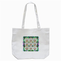 Nine Little Cartoon Dogs In The Green Grass Tote Bag (white) by pepitasart