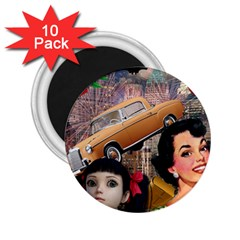 Out In The City 2 25  Magnets (10 Pack)  by snowwhitegirl