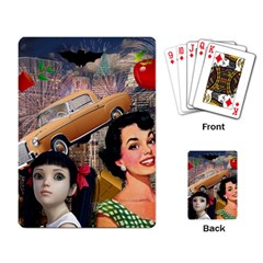 Out In The City Playing Card by snowwhitegirl