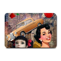 Out In The City Small Doormat  by snowwhitegirl