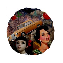 Out In The City Standard 15  Premium Flano Round Cushions by snowwhitegirl