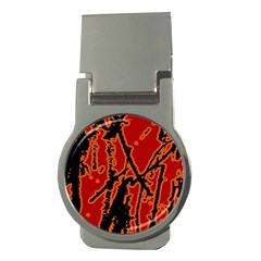 Vivid Abstract Grunge Texture Money Clips (round)  by dflcprints