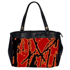 Vivid Abstract Grunge Texture Office Handbags (2 Sides)  by dflcprints