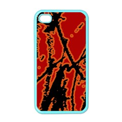Vivid Abstract Grunge Texture Apple Iphone 4 Case (color) by dflcprints