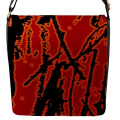 Vivid Abstract Grunge Texture Flap Messenger Bag (s) by dflcprints