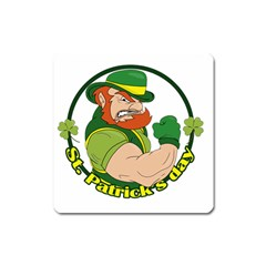 St  Patricks Day Square Magnet by Valentinaart