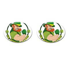St  Patricks Day Cufflinks (oval) by Valentinaart