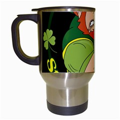 St  Patricks Day Travel Mugs (white) by Valentinaart