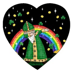 St  Patrick  Dabbing Jigsaw Puzzle (heart) by Valentinaart