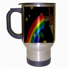 St  Patrick  Dabbing Travel Mug (silver Gray)