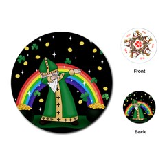 St  Patrick  Dabbing Playing Cards (round)  by Valentinaart