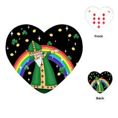 St  Patrick  Dabbing Playing Cards (heart)  by Valentinaart