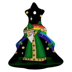 St  Patrick  Dabbing Christmas Tree Ornament (two Sides) by Valentinaart