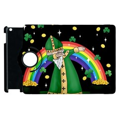 St  Patrick  Dabbing Apple Ipad 2 Flip 360 Case by Valentinaart