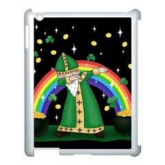 St  Patrick  Dabbing Apple Ipad 3/4 Case (white) by Valentinaart