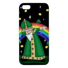 St  Patrick  Dabbing Apple Iphone 5 Premium Hardshell Case by Valentinaart