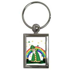 St  Patrick  Dabbing Key Chains (rectangle)  by Valentinaart