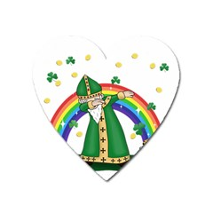 St  Patrick  Dabbing Heart Magnet by Valentinaart