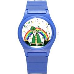 St  Patrick  Dabbing Round Plastic Sport Watch (s) by Valentinaart
