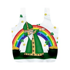 St  Patrick  Dabbing Full Print Recycle Bags (m)  by Valentinaart