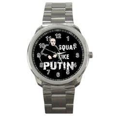 Squat Like Putin Sport Metal Watch by Valentinaart
