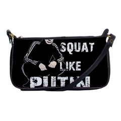 Squat Like Putin Shoulder Clutch Bags by Valentinaart