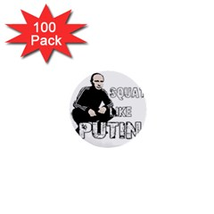 Squat Like Putin 1  Mini Buttons (100 Pack)  by Valentinaart