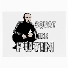 Squat Like Putin Large Glasses Cloth by Valentinaart