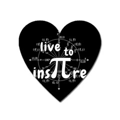 Pi Day Heart Magnet by Valentinaart