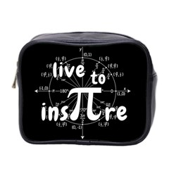 Pi Day Mini Toiletries Bag 2 Side by Valentinaart