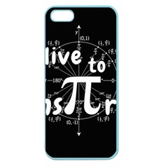 Pi Day Apple Seamless Iphone 5 Case (color) by Valentinaart