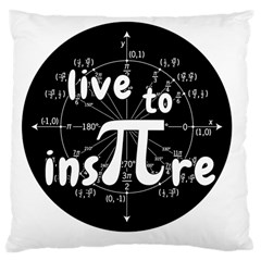 Pi Day Large Cushion Case (two Sides) by Valentinaart