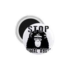 Stop Animal Abuse   Chimpanzee  1 75  Magnets by Valentinaart