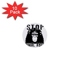 Stop Animal Abuse   Chimpanzee  1  Mini Buttons (10 Pack)  by Valentinaart